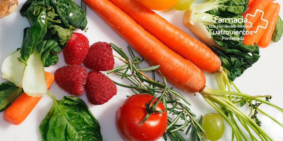 Frutas y verduras para estar animado